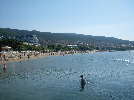 Sveti Vlas, Bulgarie : plage la mer noir 