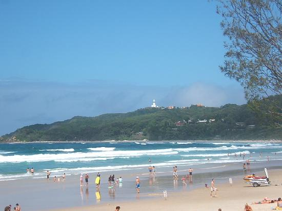  , : Der Strand von Byron Bay plus Leuchtturm