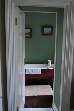 Ballyvolane House: view of our bathroom from our bedroom