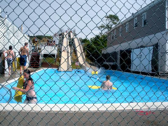 Westerly, RI : Water slides across the street! 