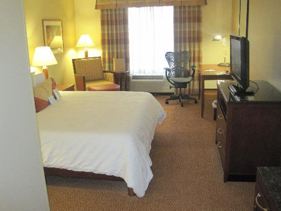 Hilton Garden Inn Blacksburg: Room w/King bed, desk, lounge chair