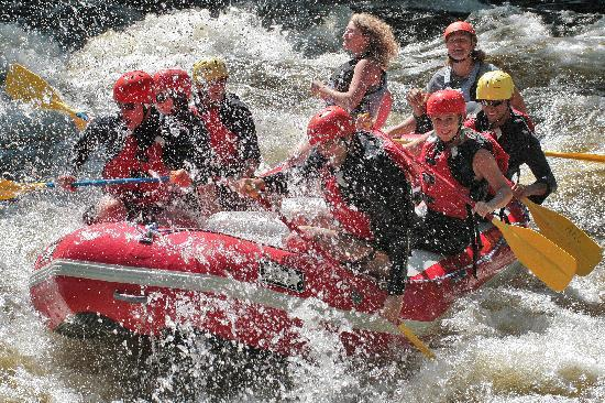 Lake Placid, État de New York : White water rafting