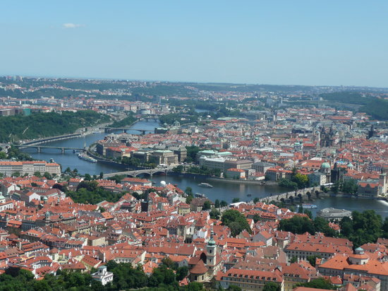 Prague town view