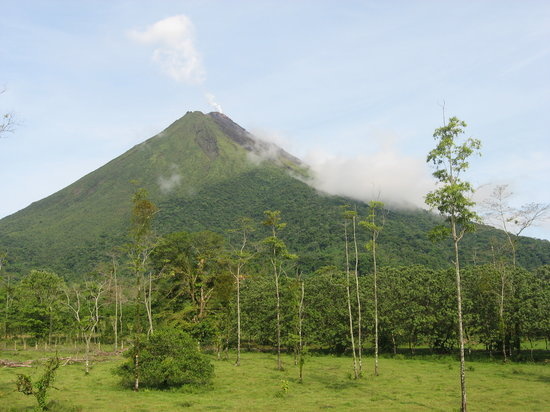 Province of San Jose, : Arenal Volcano from hotel room