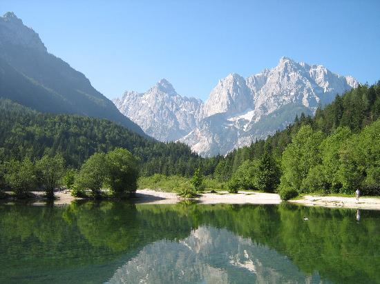 Pension Milka: Lake Jasna: View from the Hotel Milka