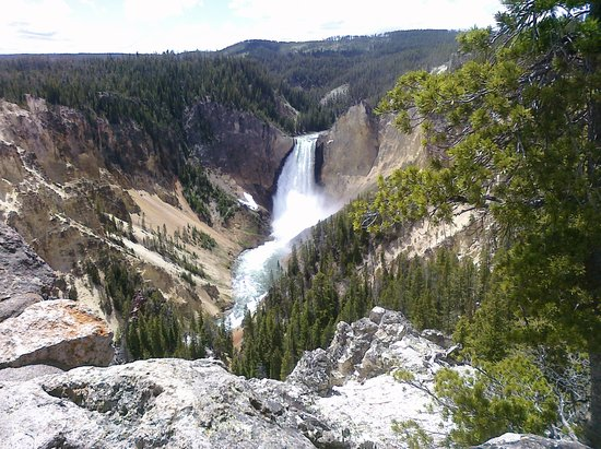 West Yellowstone, MT: Yellowstone Falls