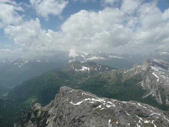 Bressanone, Italy: View from top of Rifugio Lagazuoi - Dolomites