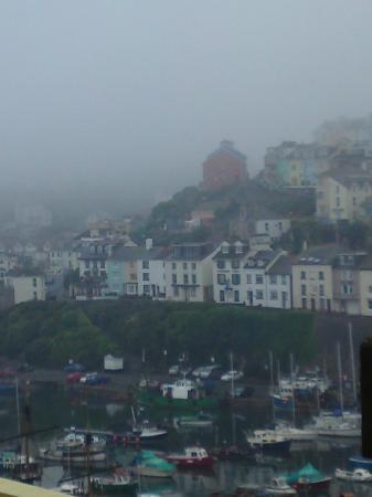 Brixham, UK: View from bedroom on a misty early morning