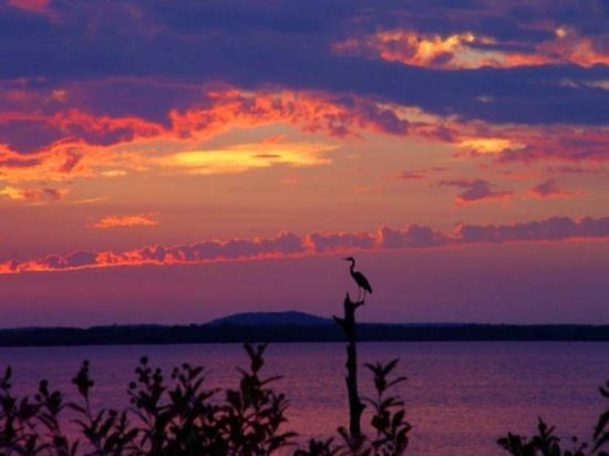 A magnificent sunset ushers out the day at Lake Eufaula State Park in eastern Oklahoma.