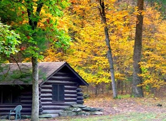 ‪‪Oklahoma‬: Enjoy a getaway in a cozy cabin at Beavers Bend State Park in southeast Oklahoma.‬