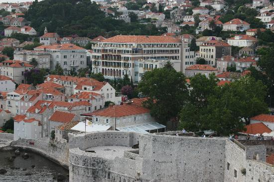 Hilton Imperial Dubrovnik: The hotel from the city walls
