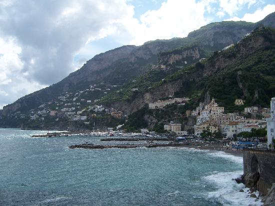 Atrani, Italy: View from the mediterranean early morning