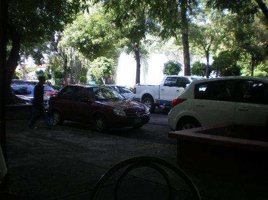 Casa de la Condesa: View of park across the street