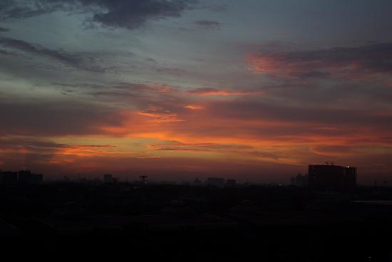 ITC Sonar: View of sunset from my room