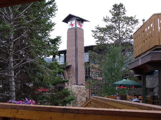 Jackson hole clock from the deck picture of alpenhof for The deck jackson hole