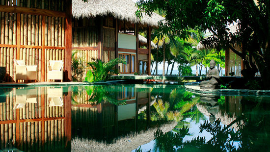 Pranamar Villas and Yoga Retreat: Chlorine free free-flowing swimming pool and pool side/ocean view villas.