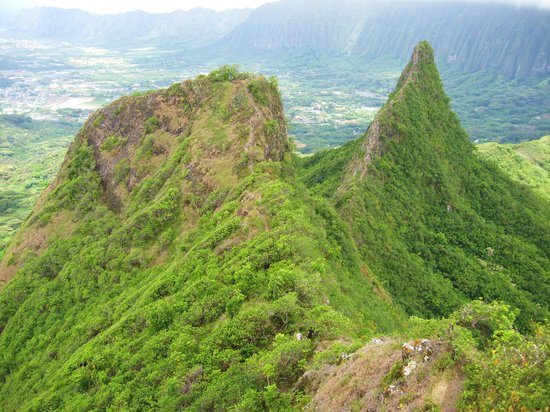 Kailua, HI: View from First Peak of the second and third peaks