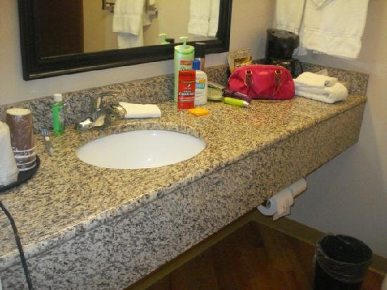 La Quinta Inn &amp; Suites Stonington: The bathroom