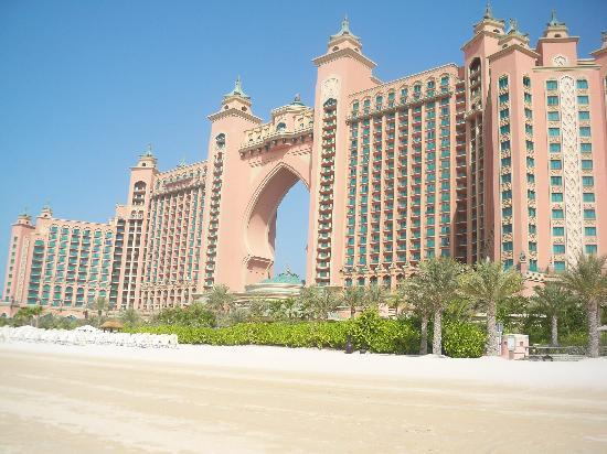 Hotel form the beach picture of atlantis the palm for Best hotel rates in dubai