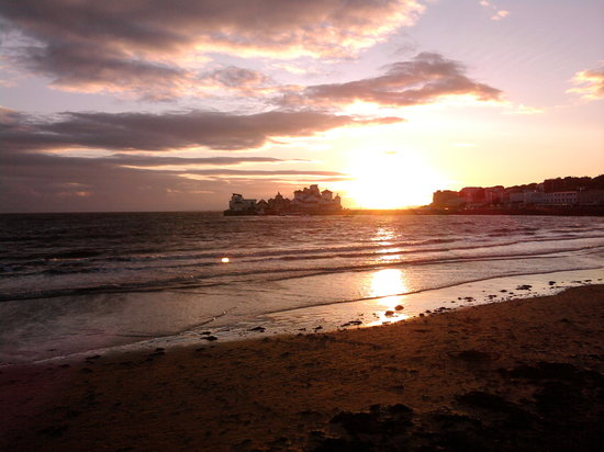 Weston-super-Mare, UK: sunset