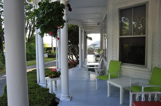 The Colonial Inn Gloucester: Front Porch of the Colonial Inn - a lovely house