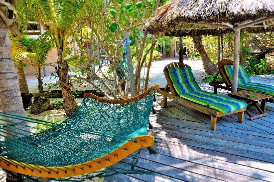 Xanadu Island Resort Belize: Hammocks everywhere!