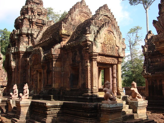 Siem Riep, Camboya: The pink temple - don't miss this one