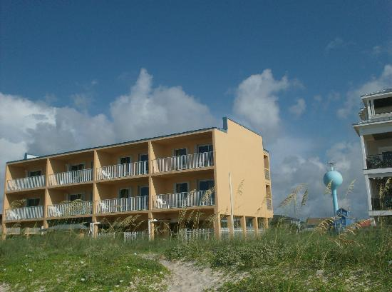 St. George Island, FL: building from beach