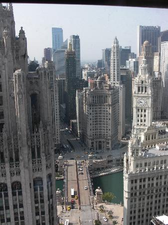 InterContinental Chicago: the view from our room in the historic tower