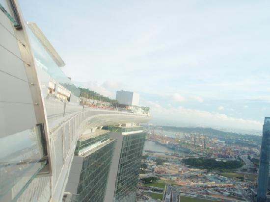 A Birds Eye Panoramic View Picture Of Marina Bay Sands