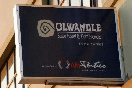 Olwandle Suite Hotel: Olwandle Banner