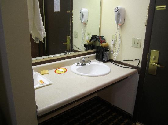 Econo Lodge Madison: sink area outside bathroom