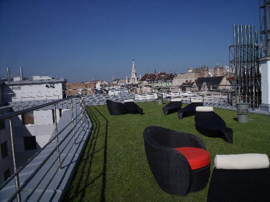 Roof grassed area picture of continental hotel zara for Zara hotel budapest