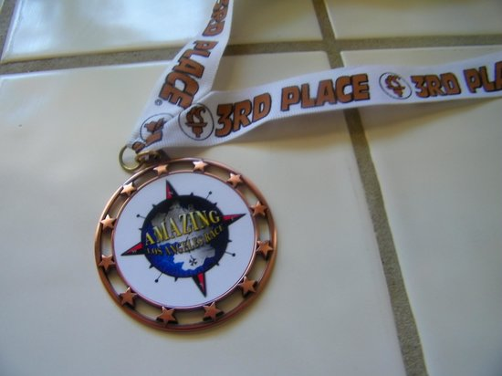 Fantastic Race: Our 3rd place medal