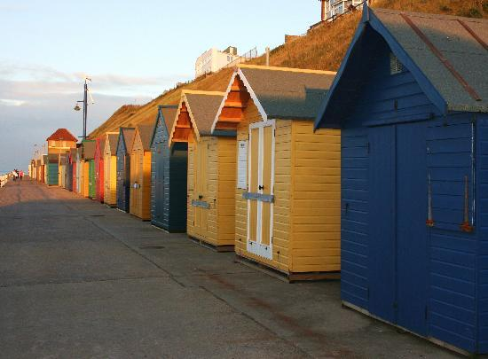 Sheringham, UK : Beach Huts on the front