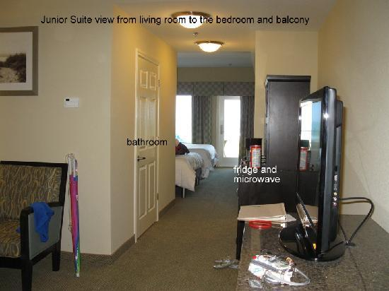Hilton Garden Inn South Padre Island: Room Pic 1, view of room as you enter