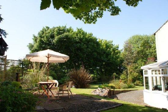 Ballantrae, UK: Patio at Balkissock Lodge