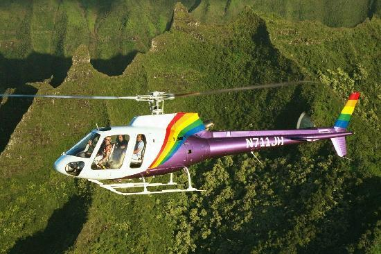 Jack Harter Helicopters39 Hughes 500E Over Mt Waialeale  Picture Of Jack