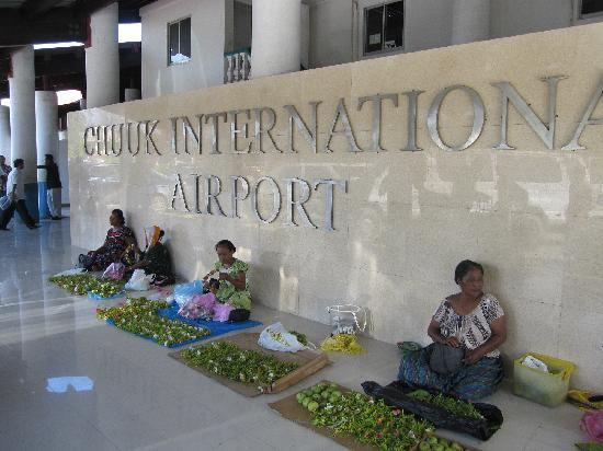 Chuuk airport with lei ladies out front - Courtesy of media-cdn.tripadvisor.com