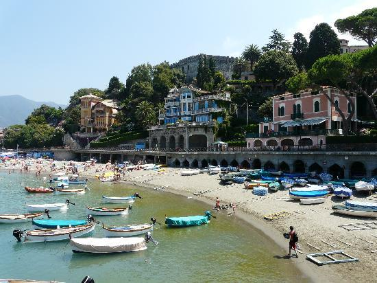 Levanto, Italy: the sandy beach