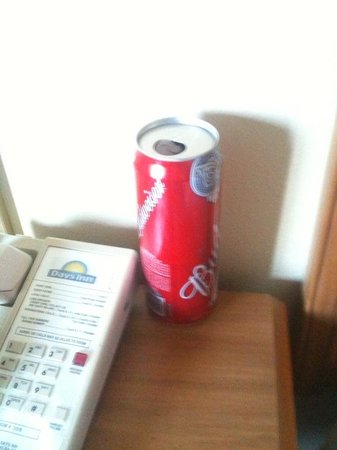 Medford Days Inn: Empty tall can awaiting my FAMILY