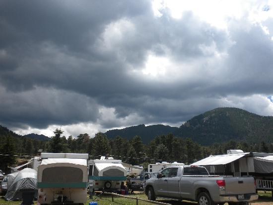 Spruce Lake RV Park: Storm Approaching over the Rockies