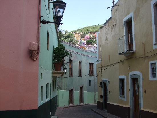 A typical street in Guanajuato