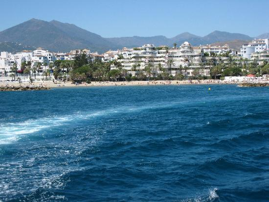 View of the harbour from the sea for Jardines del puerto puerto banus