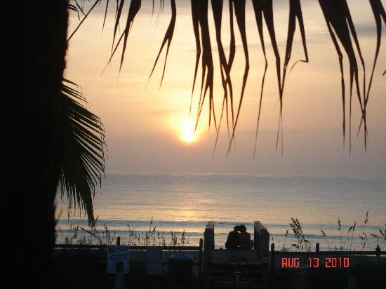 Indialantic, : Our candid sunrise from Oceanfront Cottages-