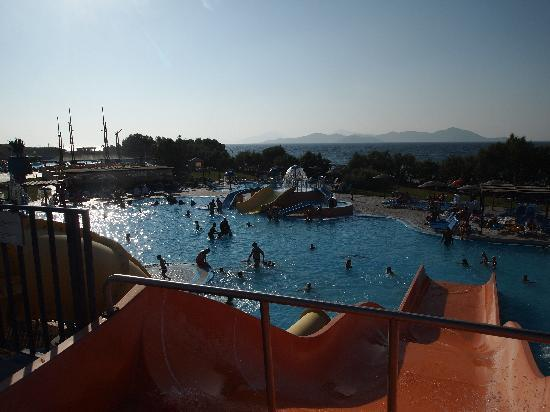 Tigaki, Greece: View from the slides