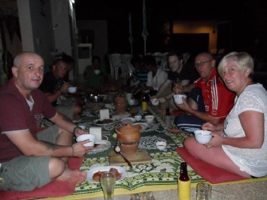 Sansuko Ville Bungalow Resort: Customers enjoying a thai style meal!!