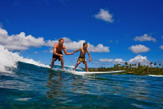 Maui, HI: Try tandem surfing!  There is an ocean of fun right out the door.