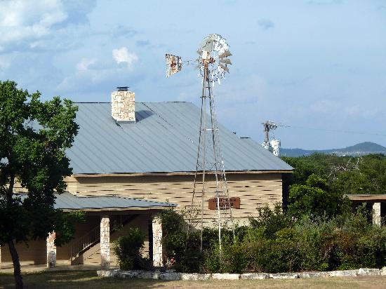 Flying L Guest Ranch: The main building.