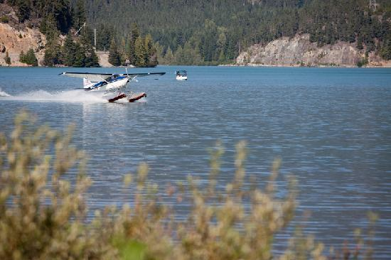 Edgewater Lodge & Restaurant: float plane taking off